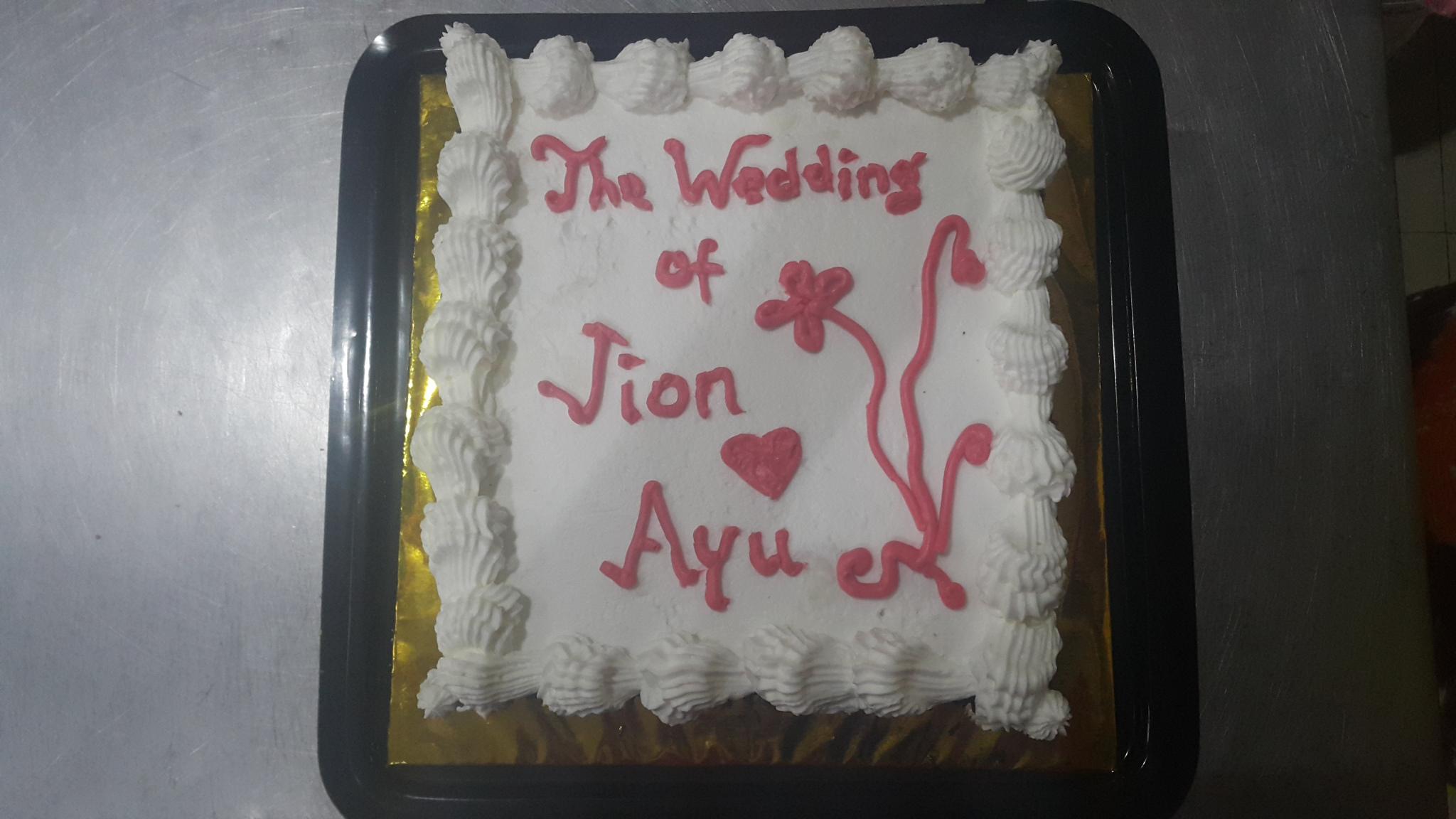 Simple wedding tart
